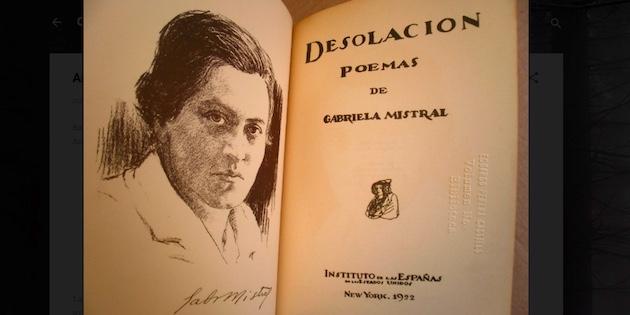 Imagen primera edición libro Desolación de Gabriela Mistral
