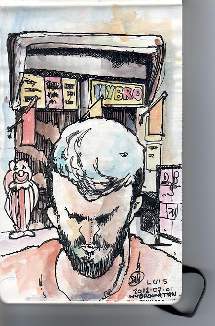A sketch by David Meldrum of Luis Simöes