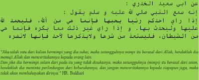 Hadits Bukhari 6470 Tentang Larangan Menceritakan Mimpi Buruk