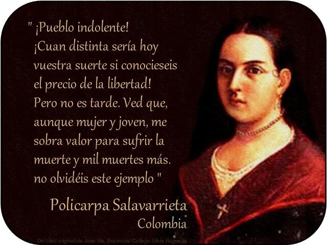 Policarpa Salavarrieta, en el día de  la mujer colombiana, libertaria: seguimos igual que hace 2 siglos…
