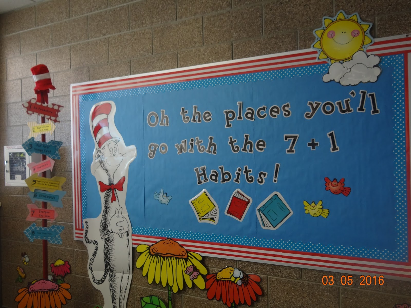Great Our school has a yearly theme and this year our principal chose Oh The Places You ull Go another one of Dr Seuss u books She made this cute little road