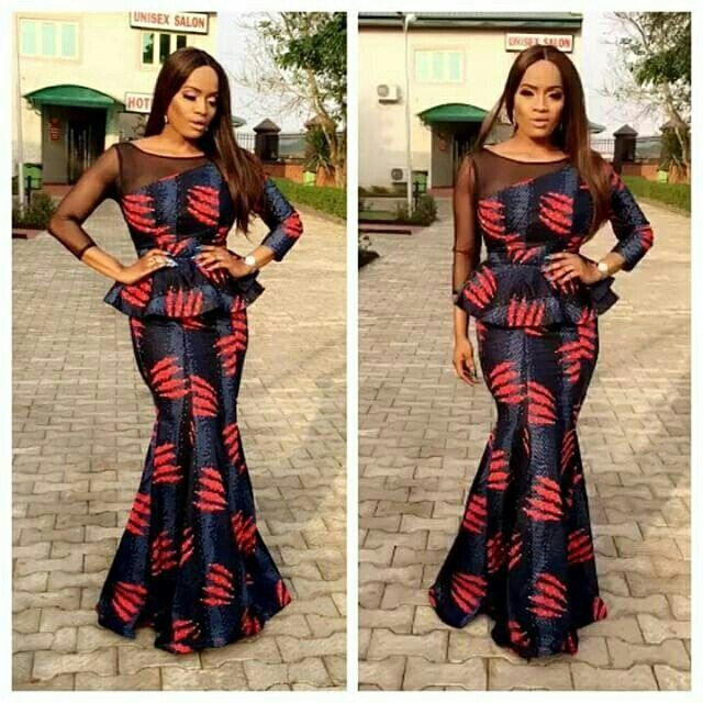 Latest Long And Short Peplum Ankara Styles You Should See
