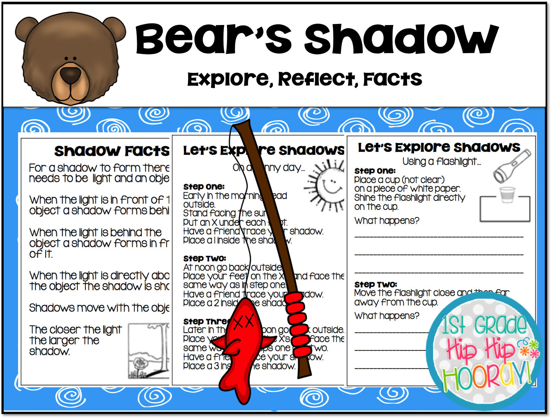 1st Grade Hip Hip Hooray Bear S Shadow Terary