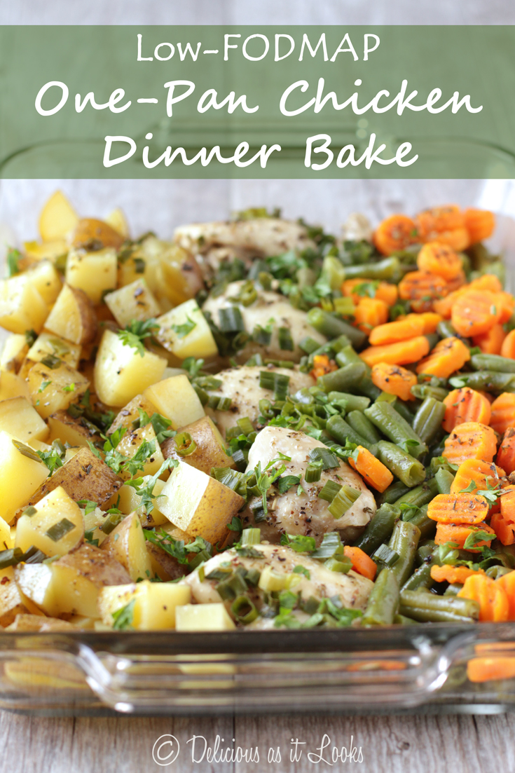 Delicious As It Looks Low Fodmap One Pan Chicken Dinner Bake