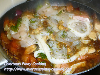 Mixed Seafood Adobo - Cooking Procedure