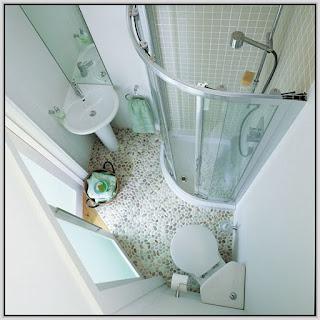 แบบห้องน้ำขนาดเล็กชักโครกติดมุม