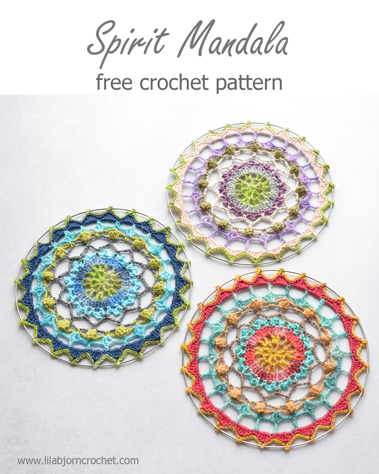 Spirit Mandala: free crochet pattern | LillaBjörn\'s Crochet World