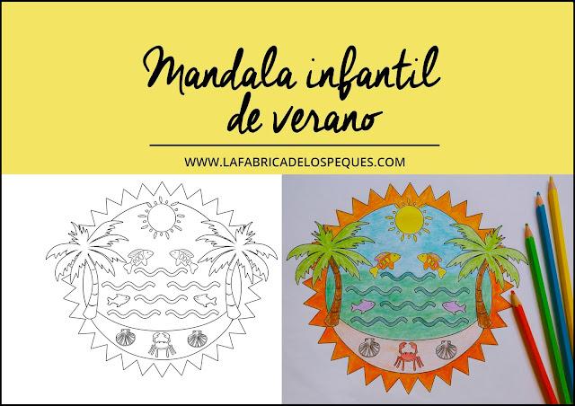 Mandala infantil verano