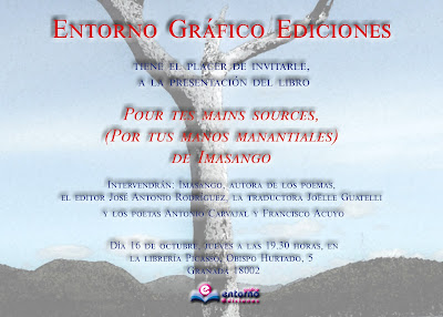 Imasango, Pour tes mains sources (Por tus manos manantiales). Francisco Acuyo