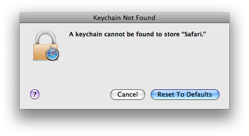 safari keeps asking for login keychain password