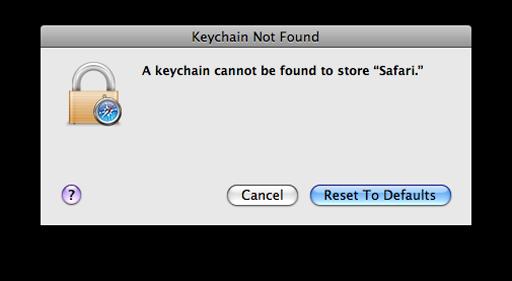 Safari keeps asking keychain password