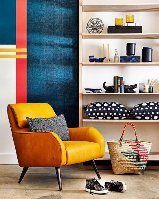 Safari Fusion blog >< Colour crush] Yellow | Groegous yellow leather chair as featured in the May 2017 edition of House and Leisure South Africa