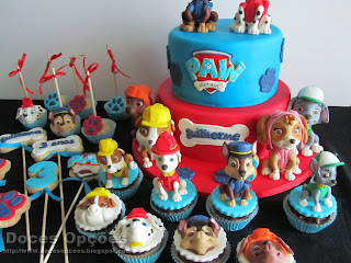 bolo bolachas cake pops cupcakes patrulha pata  bragança