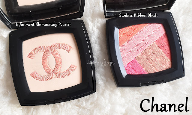 Chanel Infiniment Illuminating Powder Sunkiss Ribbon Blush Swatch