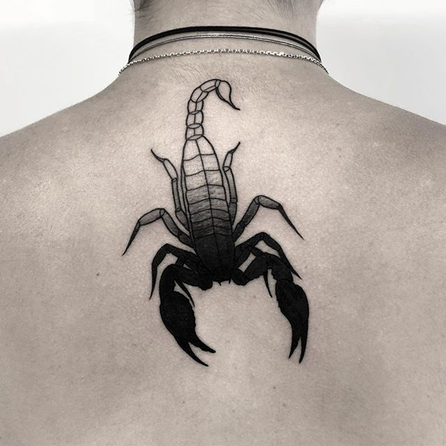 Scorpion Tattoo, Scorpion tattoo for back