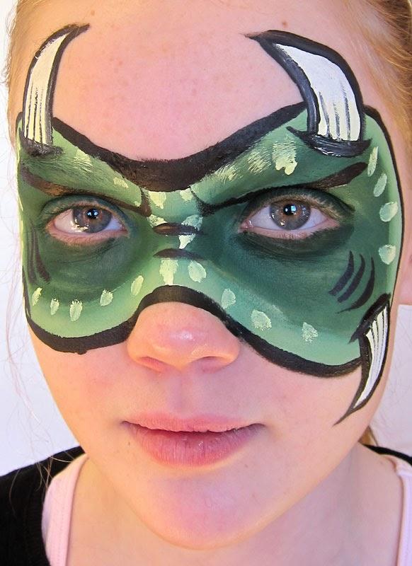 ansigtsmaling monster grøn