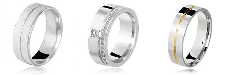 7ee18d11772 1 - Aliança de Prata Amare 2 - Aliança de Prata Celeste Smooth Crystalis 3  - Aliança de Prata Married Plus 4 - Anel de Outro Aurum Blanc Crystalis