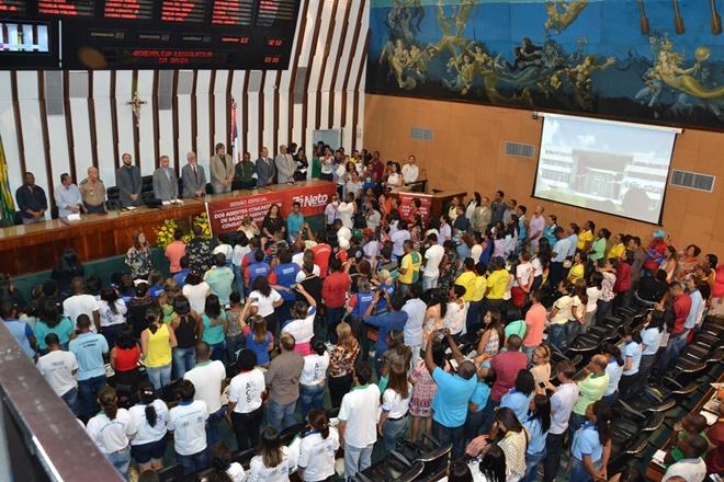 Agentes comunitários de saúde de municípios baianos apresentam reivindicações na AL