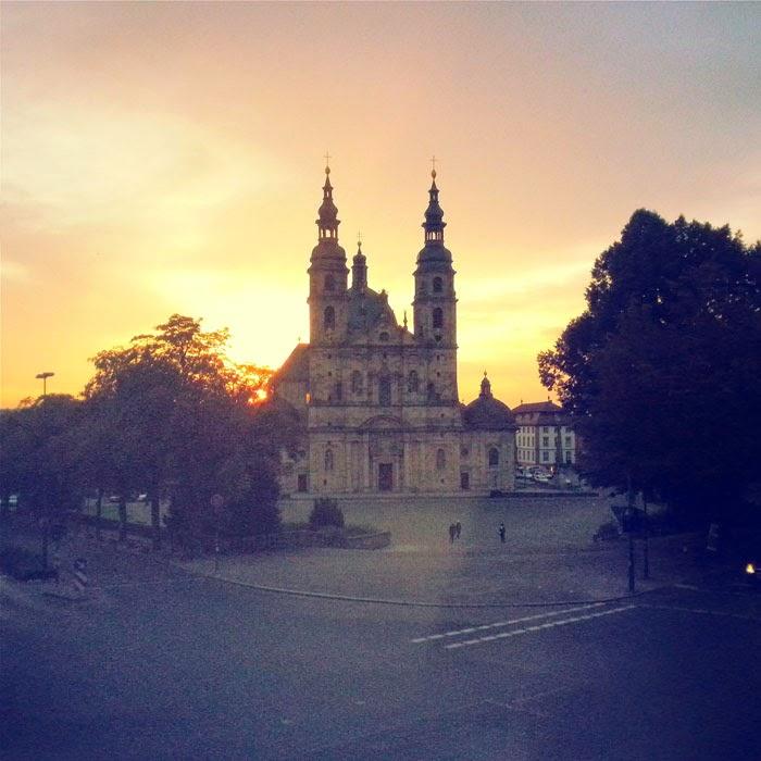 Fulda Cathedral at Sunset, Hessen, Germany
