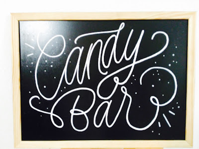 Lettering candy bar
