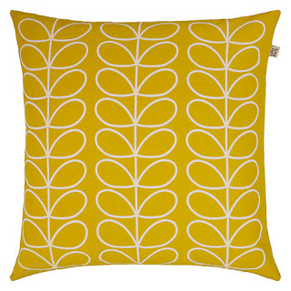 Orla Kierly Linear Stem Cushion (Persimmon Sunflower)