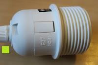 Relief: kwmobile E27 Lampenfassung 3,5m Weiß - Netzkabel mit Schraubring Schalter - Lampenhalter und Kabel - Pendelleuchte - Lampenaufhängung - Hängeleuchte