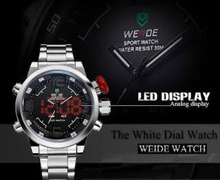 Harga Jam Tangan weide warna dalam hitam