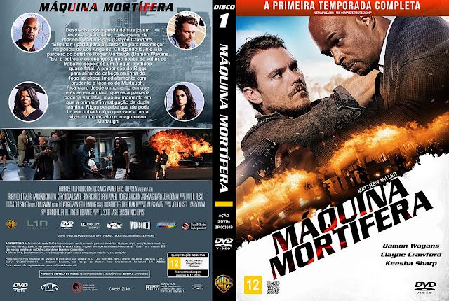 Capa DVD Máquina Mortífera - Primeira Temporada - Disco 1 [Custom]