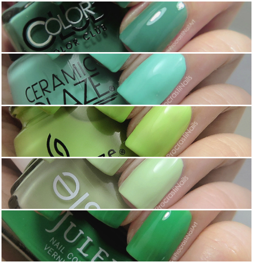 The best green nail polishes