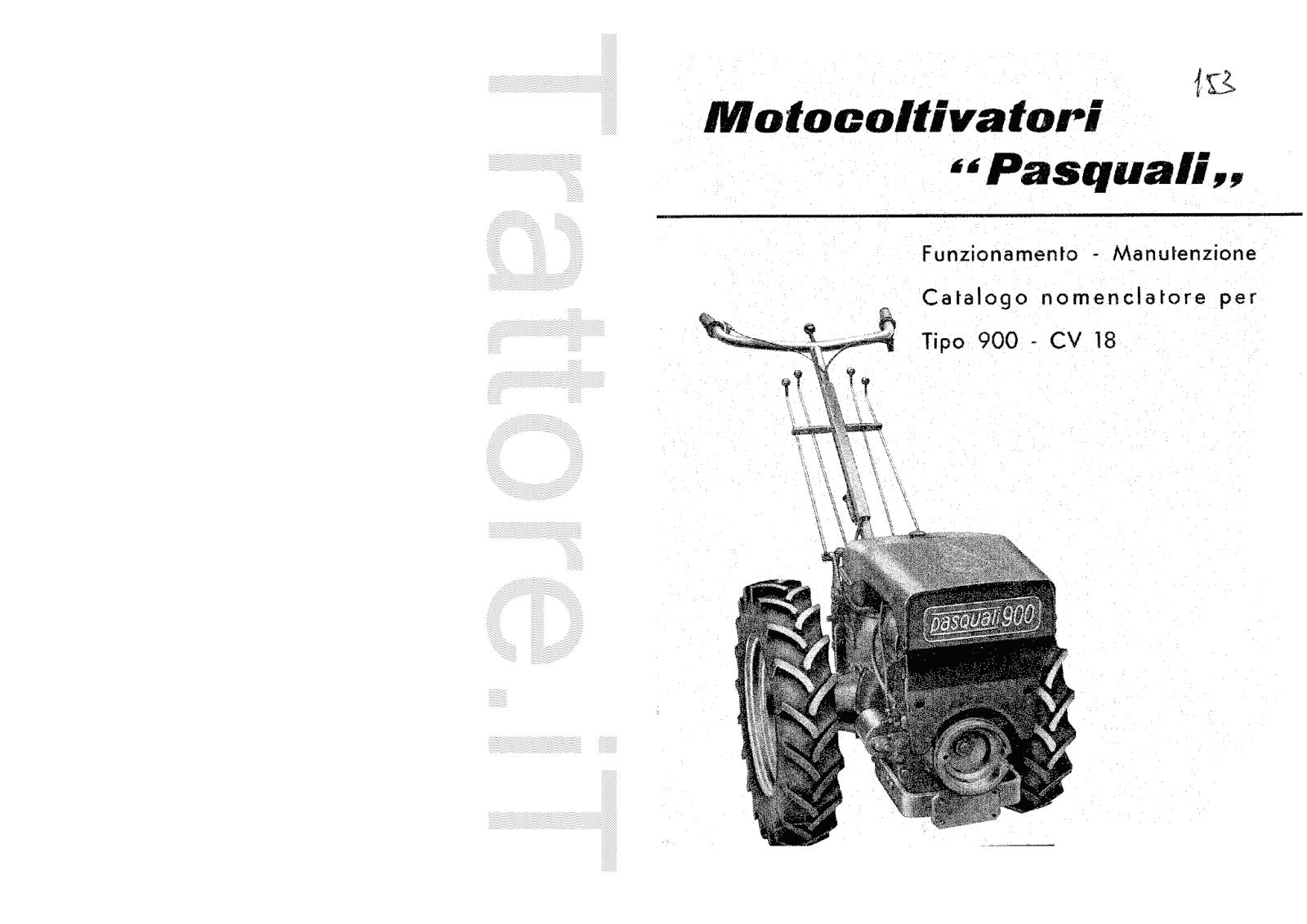 InfoTrattore.it: Motocoltivatore Pasquali 900 CV 18