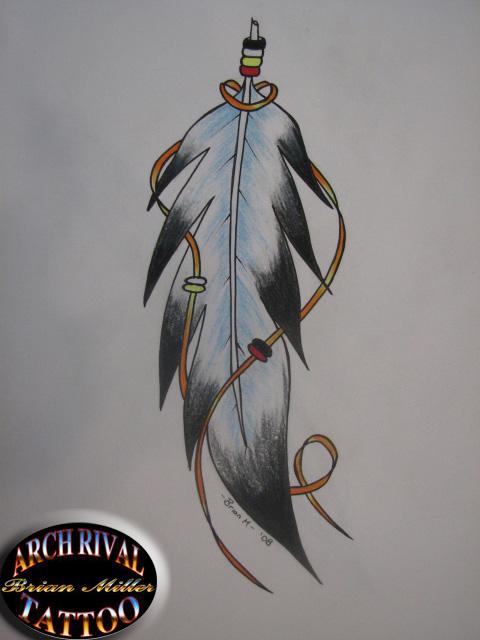 tatto: Eagle Feather Tattoo
