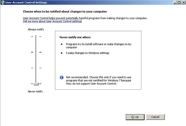 Cara Mematikan User Account Control di Windows 7, 8, atau 10