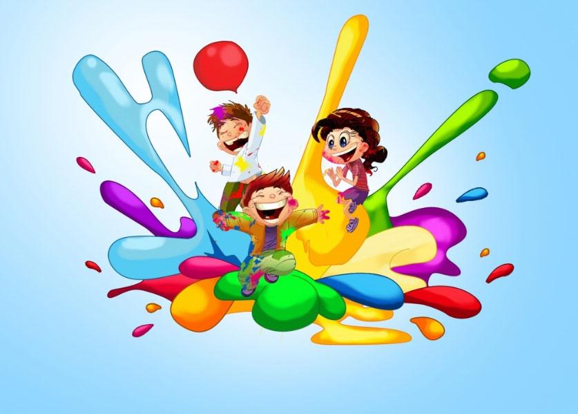 Happy Holi Cartoon Pictures