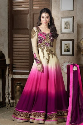 Stunning Bollywood style wedding gown with long sleeve.