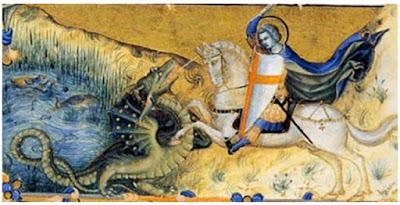 στη Βίβλο,ο Άγιος Γεώργιος που σκοτώνει ενα δράκο