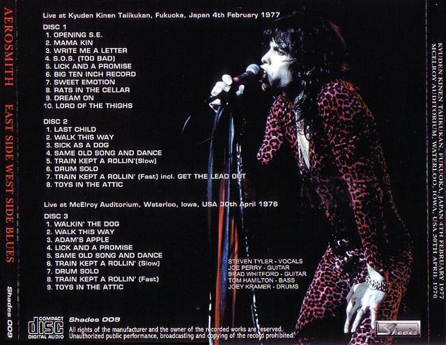 Aerosmith Bootlegs Cover Arts East Side West Side Blues