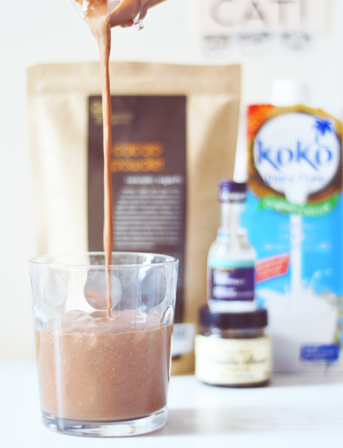 Healthy & yet still delicious (& addictive!) mint choc smoothie.