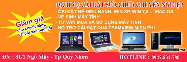 Sửa chữa máy tính, laptop, máy in tận nhà tại Quy Nhơn