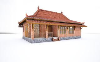 Desain, gambar dan foto rumah limasan jawa