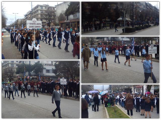 Γιάννενα: Υπό βροχή η παρέλαση για την επέτειο της 25ης Μαρτίου
