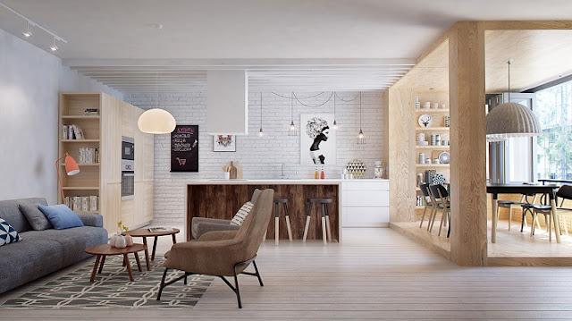 Mẫu thiết kế nội thất chung cư 105m2 hiện đại và ấn tượng nhất năm 2018 - H3