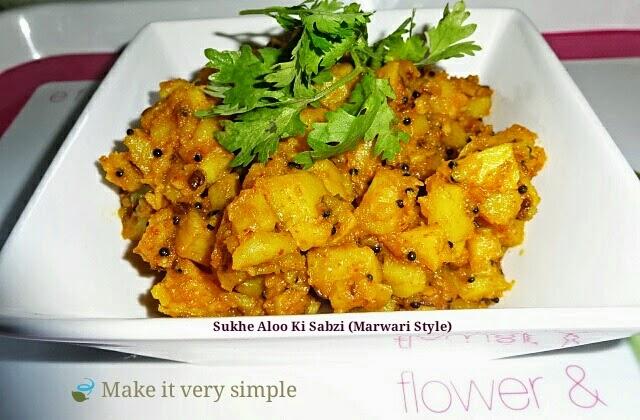 Sukhe Aloo Ki Sabzi (Marwari Style)