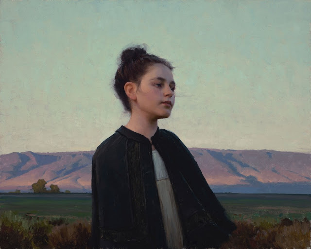 "by Jeremy Lipking, ""Autumn Sky"" - oil on linen 