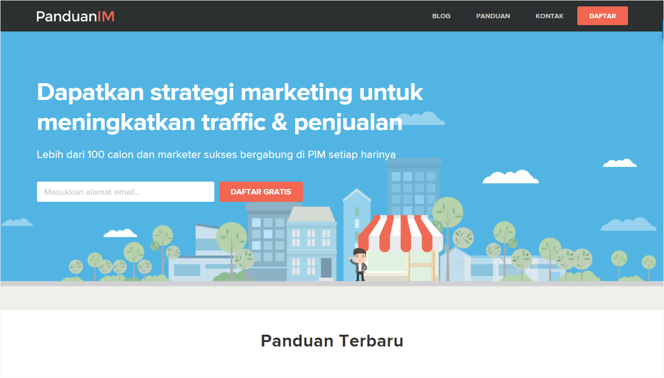Halaman Depan Situs PanduanIM - Nanda Network