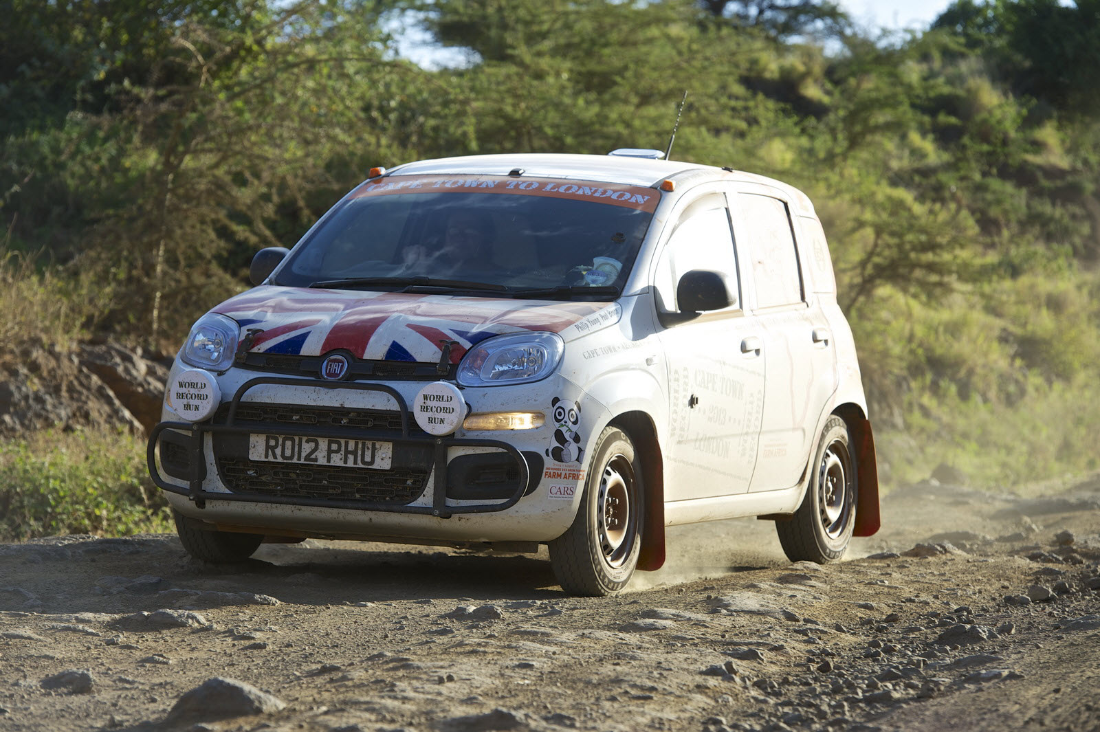 Out Of Africa Fiat Panda Completes Non Stop 10 000 Mile
