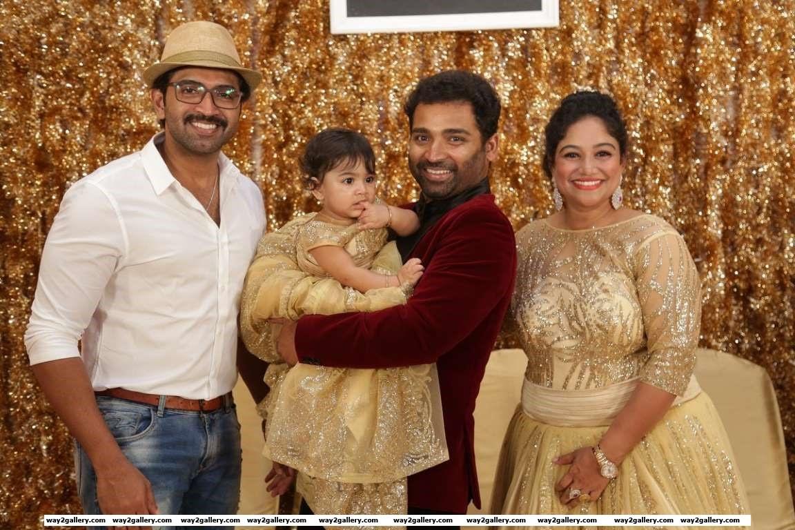 Arun Vijay spotted at Syamantakamani Ashvikas birthday bash