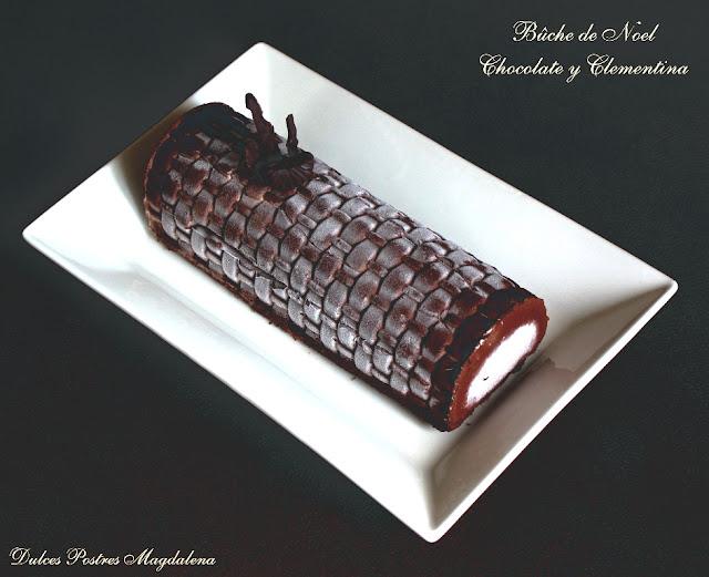 buche noel clementina, buche noel chocolate