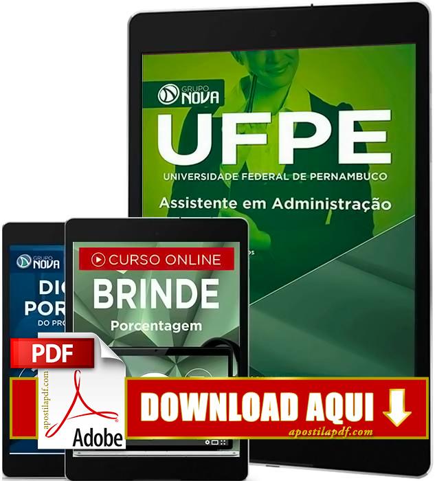 Apostila UFPE 2016 PDF Download Assistente em Administração