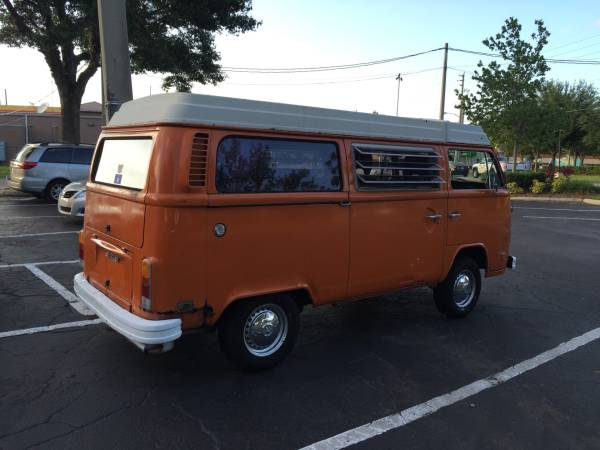 1975 VW Westfalia Orange Bus | vw bus wagon