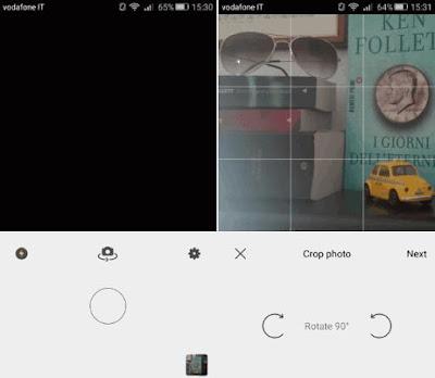 App Prisma scattare e caricare foto